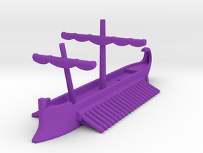 1/1200 Carthaginian Quadrireme Game Pieces in Purple Processed Versatile Plastic: Extra Small