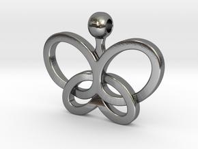 Custom Logo Pendant in Polished Silver