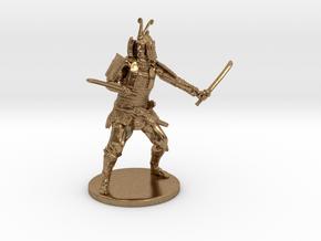 Samurai Miniature in Natural Brass: 1:55