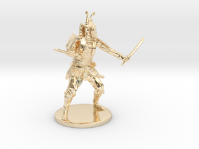 Samurai Miniature in 14K Yellow Gold: 1:55