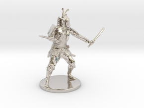 Samurai Miniature in Rhodium Plated Brass: 1:55