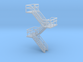 N Scale Staircase H39.2mm in Smooth Fine Detail Plastic