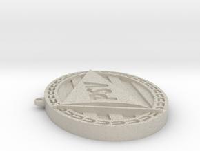 Logo PSV ketting hanger in Natural Sandstone: Small