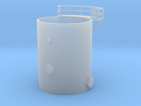 'N Scale' - Distillation Tower - Bottom Section in Smooth Fine Detail Plastic