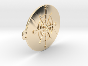 Shaman Pendant 50mm in 14k Gold Plated Brass