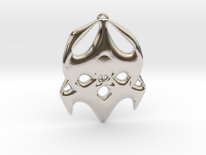 mother in Rhodium Plated Brass