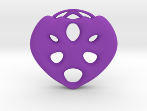 heart1 in Purple Processed Versatile Plastic