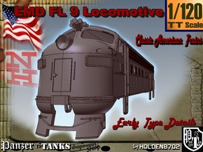 1-120 EMD FL 9 Locomotive in White Natural Versatile Plastic