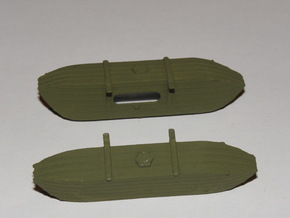 1/87th (H0) scale Pontoons for V-3 Straussler in White Natural Versatile Plastic