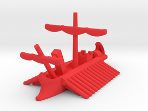 1/1200 Roman Complete Trireme Game Pieces in Red Processed Versatile Plastic: Extra Small