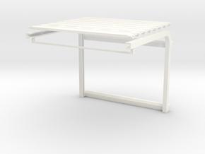 1/64 Overhead Door 20w x 16h (3.78w x 3.00h) Kit in White Processed Versatile Plastic