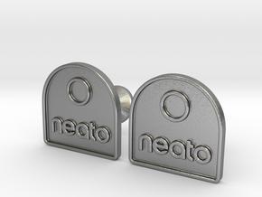 Custom Logo Cufflinks in Natural Silver