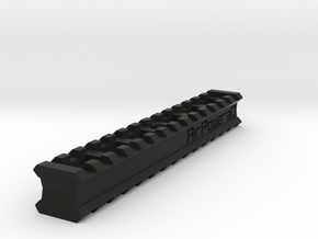 Back-to-Back 14-Slots Picatinny Rails Adapter in Black Premium Versatile Plastic