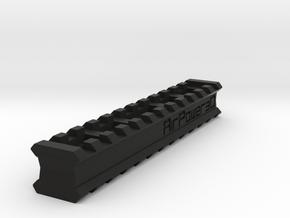 Back-to-Back 12-Slots Picatinny Rails Adapter in Black Premium Versatile Plastic