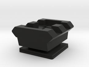 Flash Hot Shoe Picatinny Rail (2 Slots) in Black Premium Versatile Plastic
