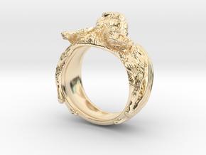 Vampire Bat Ring in 14k Gold Plated Brass: 6 / 51.5
