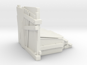 Dumpster Guard in White Natural Versatile Plastic