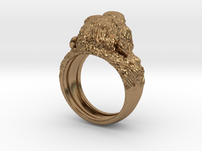 Aggressive Chimpanzee Ring in Natural Brass: 7 / 54
