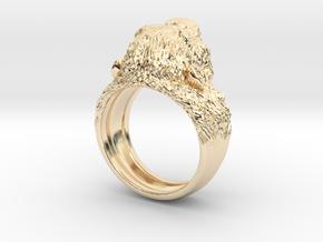 Aggressive Chimpanzee Ring in 14K Yellow Gold: 7 / 54