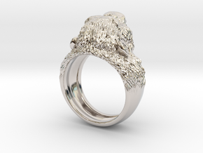Aggressive Chimpanzee Ring in Platinum: 7 / 54