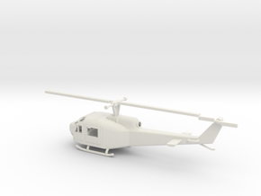 1/87 Scale UH-1B in White Natural Versatile Plastic