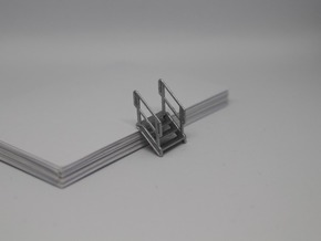 HO 3x Stairs #4 in Smooth Fine Detail Plastic