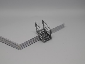 HO 3x Stairs #5 in Smooth Fine Detail Plastic