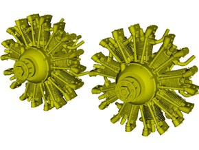 1/16 scale Wright J-5 Whirlwind R-790 engines x 2 in Smooth Fine Detail Plastic