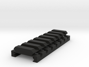"1/4"" High 7 Slots Hybrid Picatinny/Weaver Riser in Black Premium Versatile Plastic"