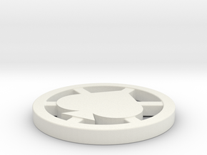 Poker Dealer Button in White Natural Versatile Plastic
