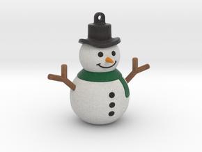 Snowman Pendant (hollow version) in Full Color Sandstone