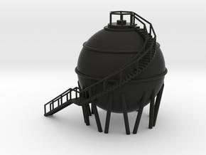 Chemical Spherical Storage Tank - N 160:1 Scale in Black Natural Versatile Plastic