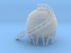 Chemical Spherical Storage Tank - N 160:1 Scale in Smooth Fine Detail Plastic