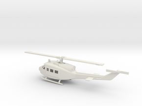 1/87 Scale UH-1J Model  in White Natural Versatile Plastic