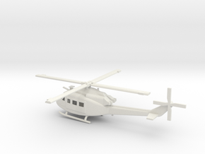 1/87 Scale UH-1Y Model  in White Natural Versatile Plastic