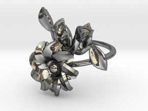 SASHA cherry blossom in Polished Silver: 10 / 61.5
