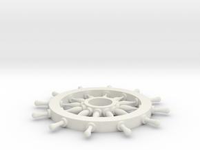 Rudder Pirates in White Natural Versatile Plastic: Medium