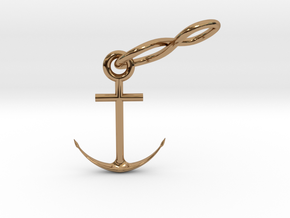 INFINITY ANCHOR in Polished Brass (Interlocking Parts)
