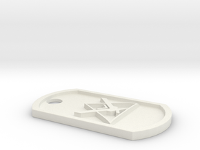 Halo Reach 'Noble Team' Themed Dog Tag in White Natural Versatile Plastic