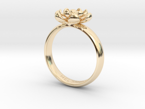Flower Ring in 14k Gold Plated Brass