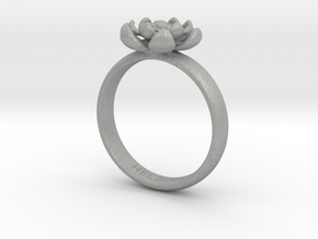 Flower Ring in Aluminum