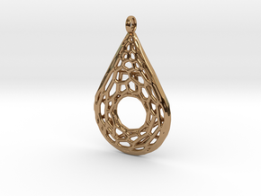Drop Mesh 1 Pendant in Polished Brass
