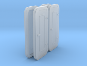 1:87  Watertight Door - w/o porthole -  in Smoothest Fine Detail Plastic