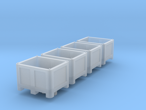 HO Scale Palletbox 4pc in Smooth Fine Detail Plastic