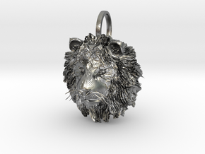 Lion in Natural Silver