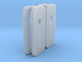 1:87 RH-Watertight Door - w porthole - 4 ea in Smoothest Fine Detail Plastic