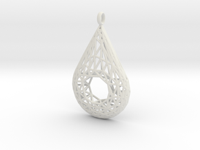 Drop Pendant 3 in White Natural Versatile Plastic