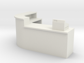 1:64 Shop Counter in White Natural Versatile Plastic