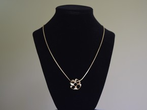 Roller coaster pendant necklace in Natural Brass