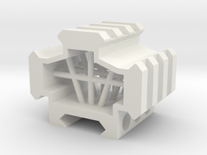 Picatinny rail splitter to 3 - 3 slot in White Natural Versatile Plastic